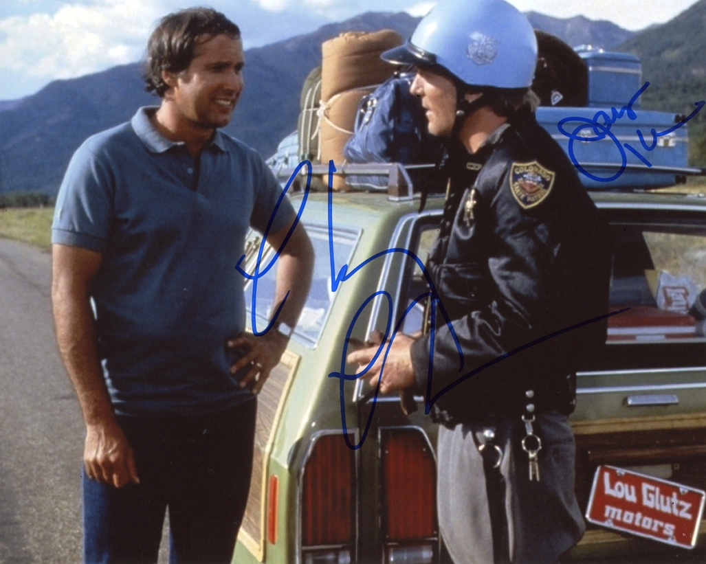 Chevy Chase & James Keach Signed Photo