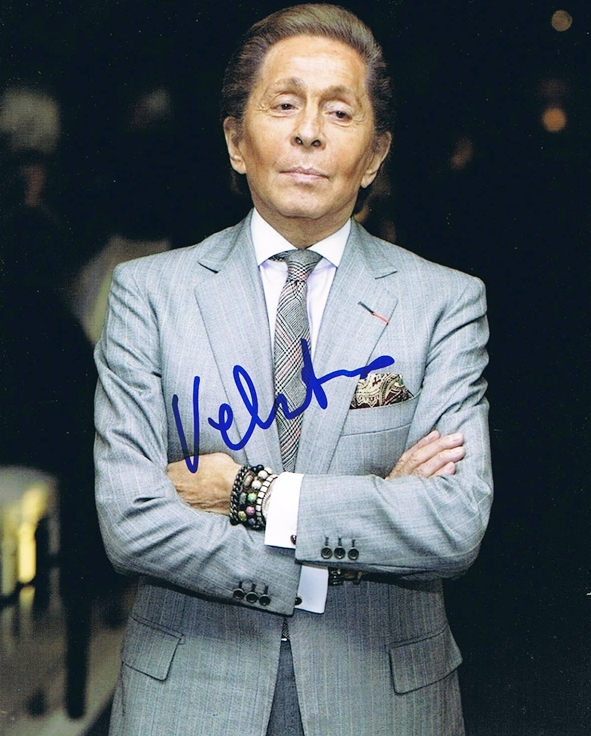 Valentino Signed Photo