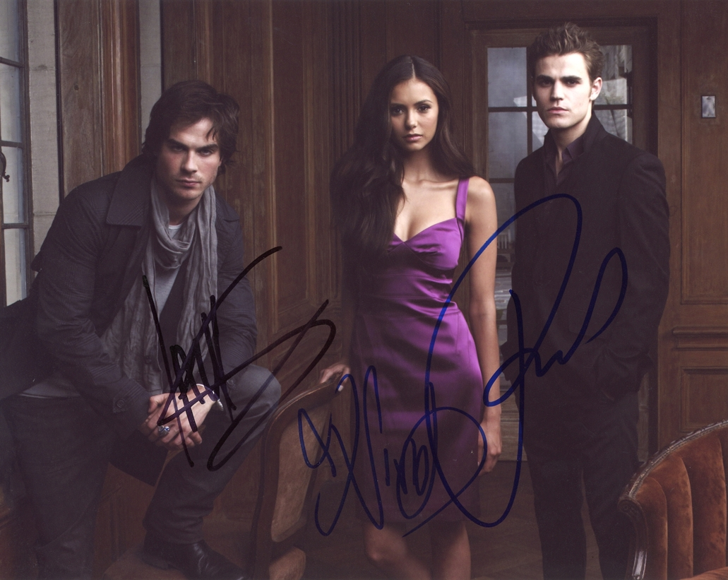 Vampire Diaries Signed Photo