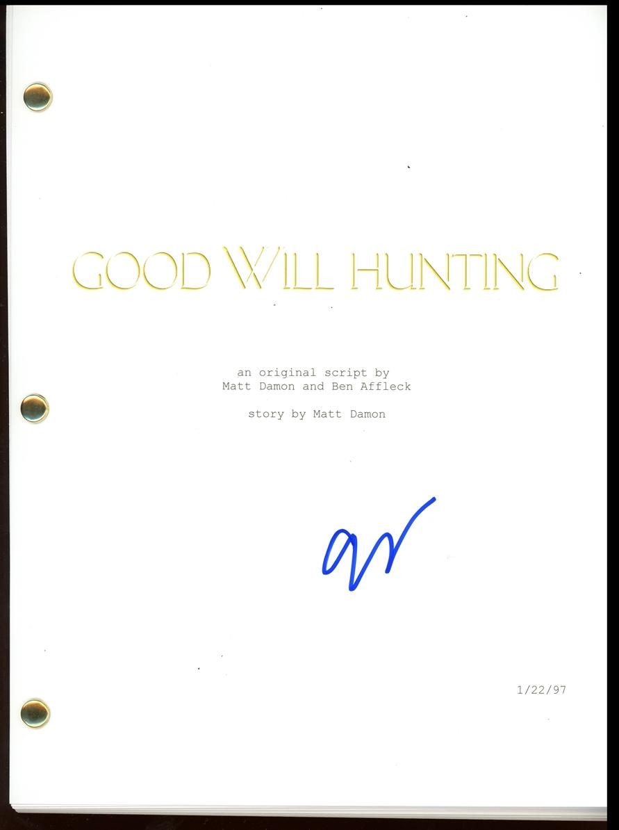 Gus Van Sant Signed Script