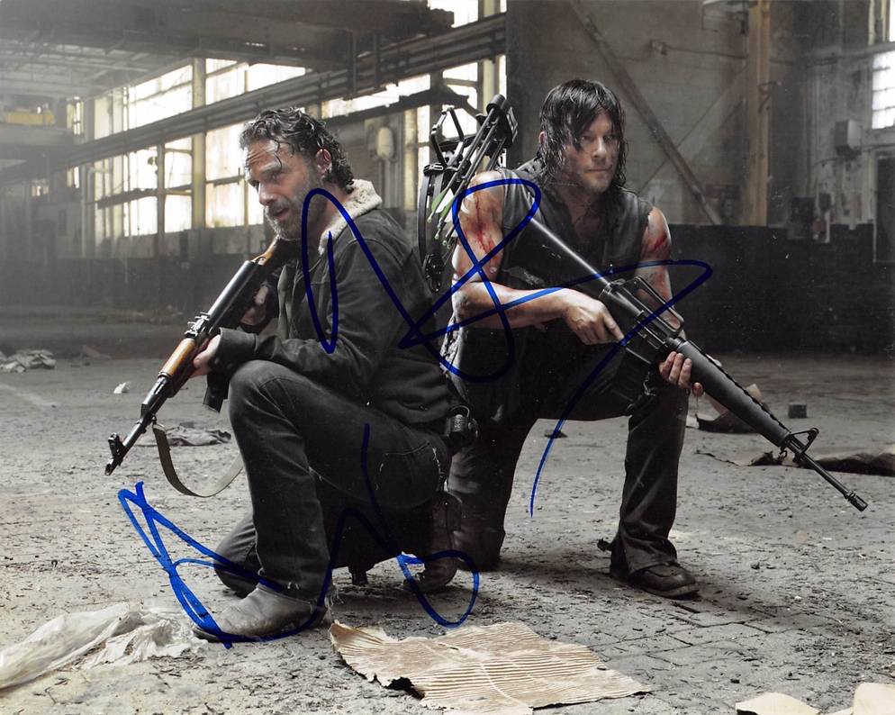 Andrew Lincoln & Norman Reedus Signed Photo