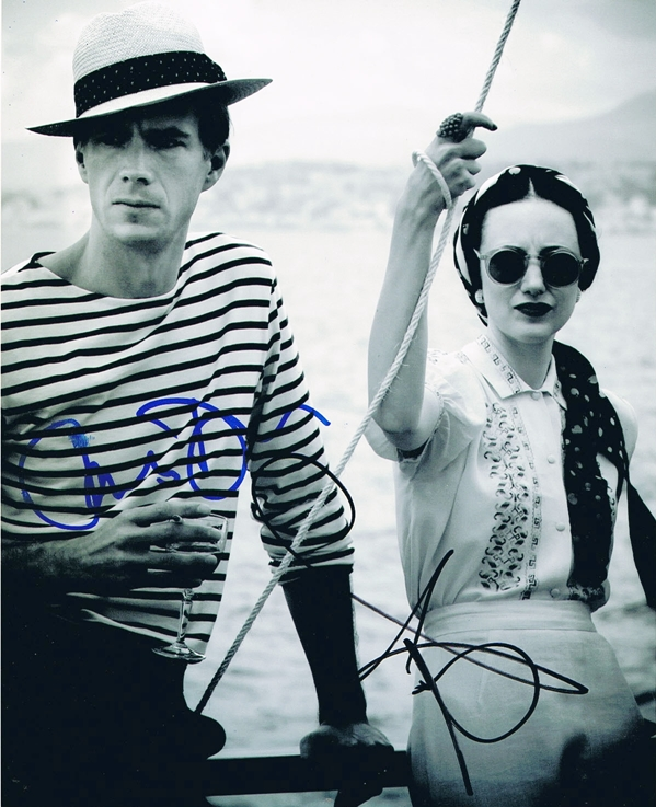 Andrea Riseborough & James D'Arcy Signed Photo