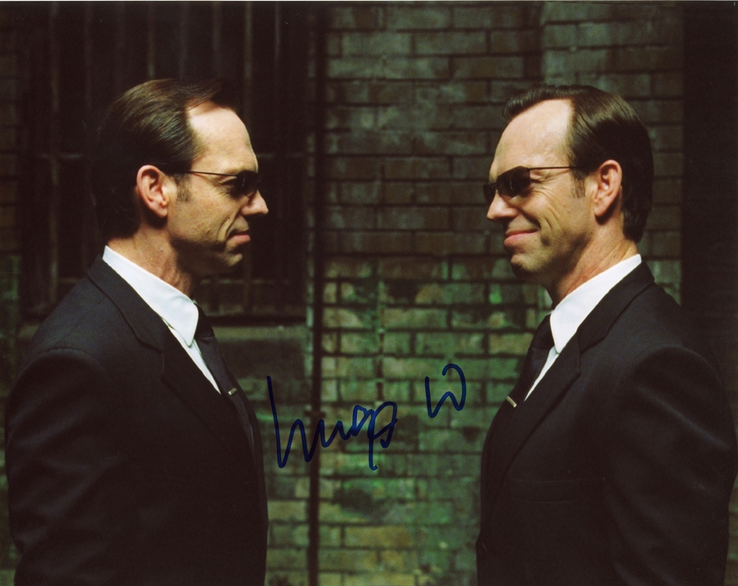 Hugo Weaving Signed Photo