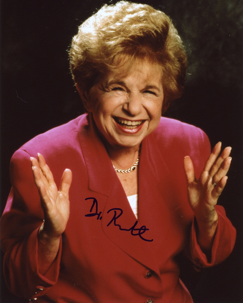 Dr. Ruth Westheimer Signed Photo