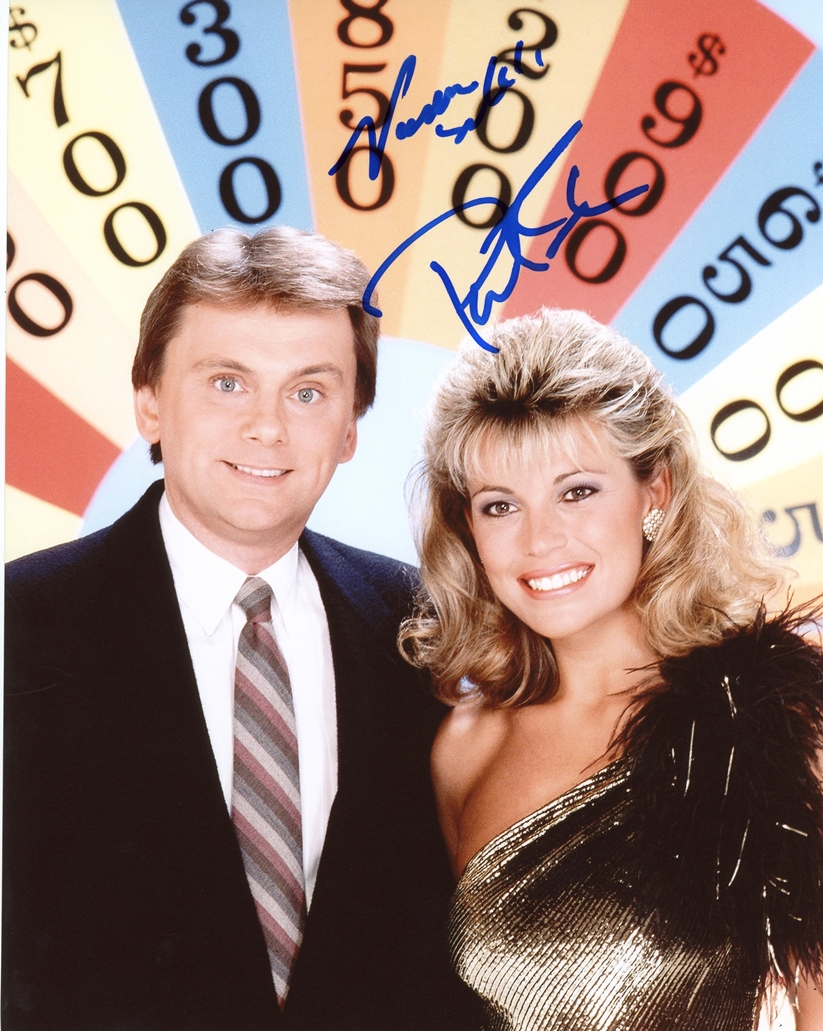 Pat Sajak & Vanna White Signed Photo