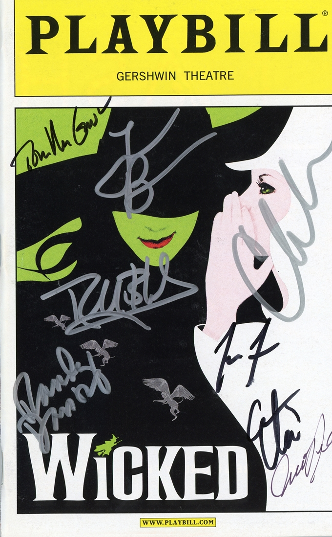 Wicked Signed Playbill