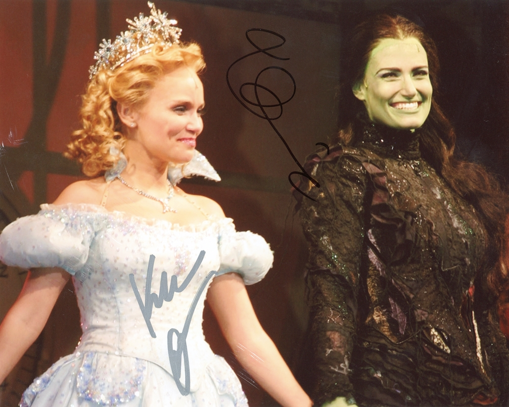 Idina Menzel & Kristin Chenoweth Signed Photo