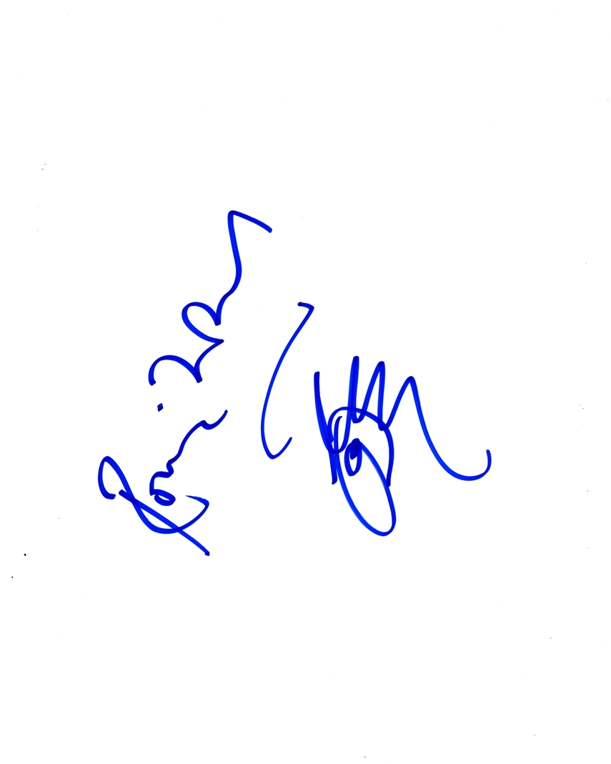 Ronnie Wood Signed Sketch