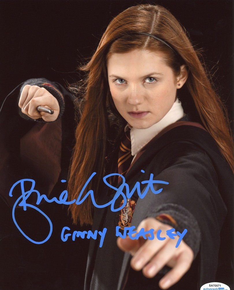 Bonnie Wright Signed Photo