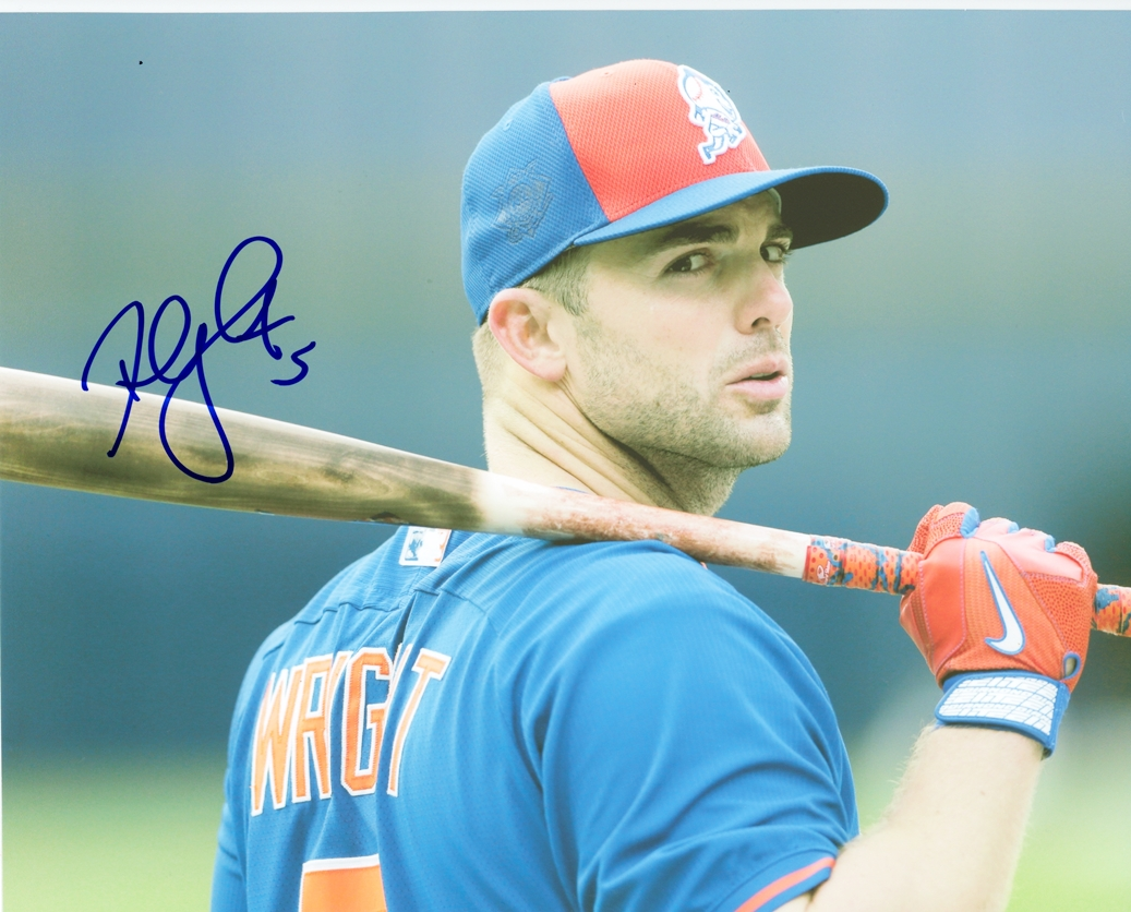 David Wright Signed Photo