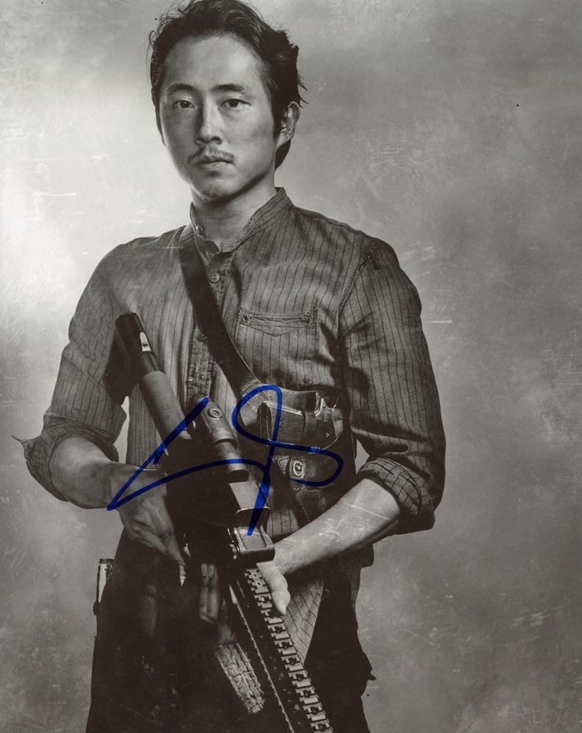 Steven Yeun Signed Photo