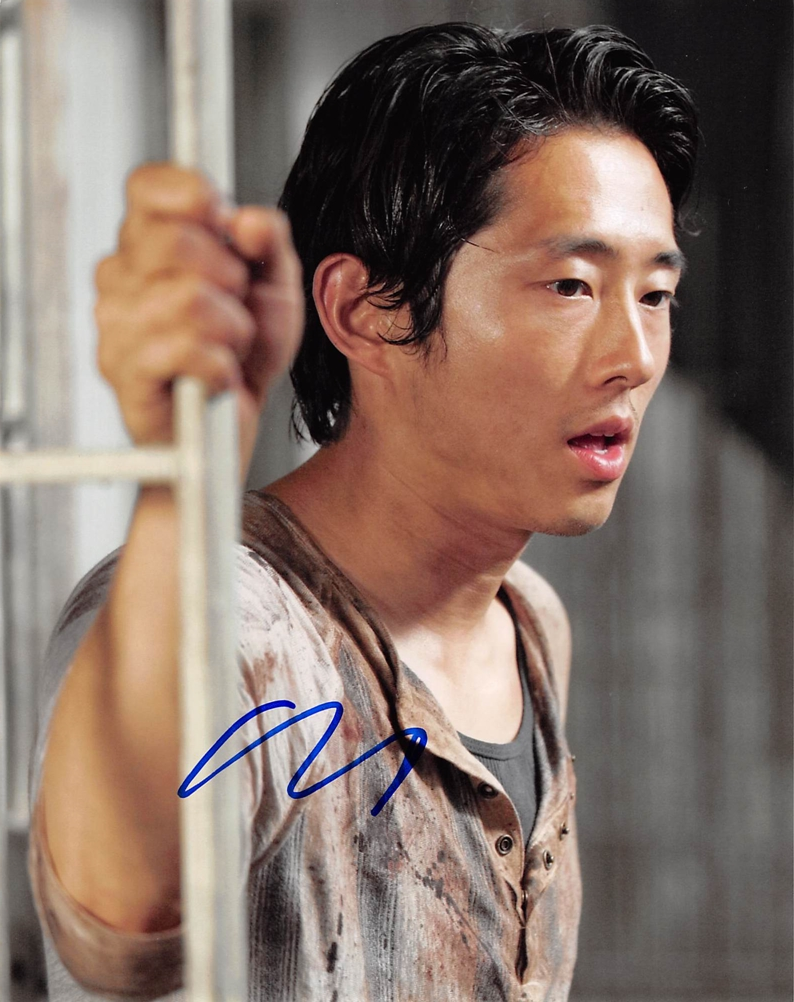 Steven Yeun Signed Photo