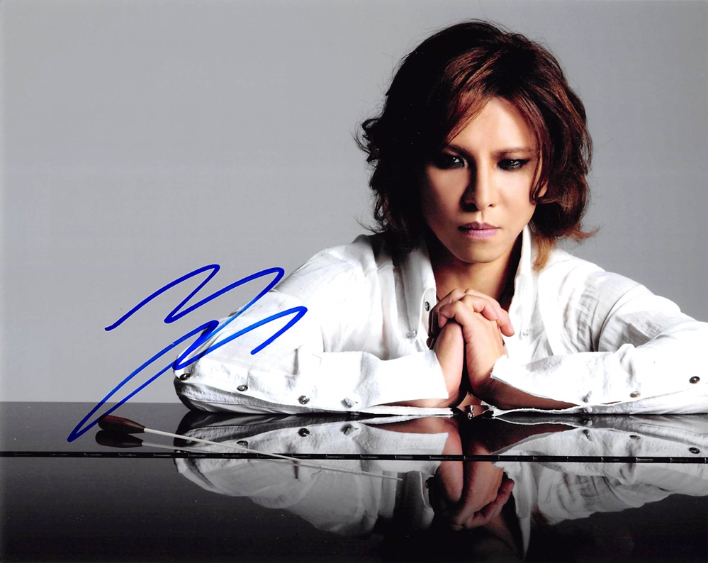 Yoshiki Signed Photo