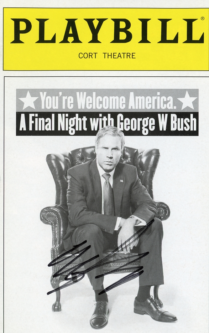 Will Ferrell Signed Playbill