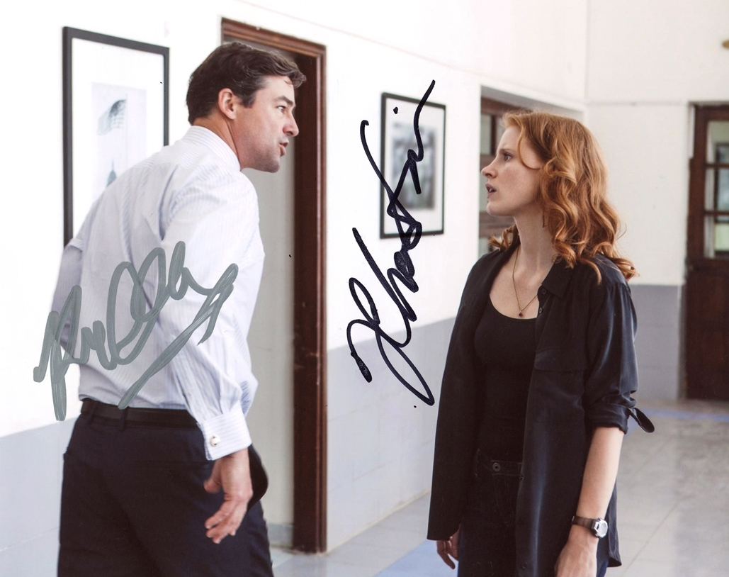 Jessica Chastain & Kyle Chandler Signed Photo
